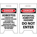 Floor Sign - Danger Asbestos Cancer And Lung Disease Hazard