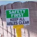 Warning Post Sign Adapter - Yellow