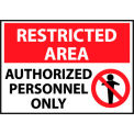 Restricted Area Plastic - Authorized Personnel Only