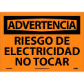 Spanish Vinyl Sign - Advertencia Riesgo De Electricidad No Tocar