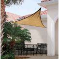 ShelterLogic, 25728, ShadeLogic Sun Shade Sail Triangle 12 ft. x 12 ft. Sand