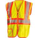 Classic Mesh Two-Tone Vest, Hi-Vis Yellow, Class 2, XL