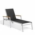 Oxford Garden® Travira Chaise Lounge - Black Sling - Tekwood naturelle couvrances (2 pk)