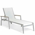 Oxford Garden® Travira Chaise Lounge - Sling naturel - Tekwood Vintage couvrances (2 pk)