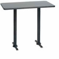 "Premier Hospitality Rectangular Bar Table with T-Base 30""W x 48""D x 42""H - Graphite Nebula"