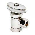 "Brasscraft 3/8"" Fip Inlet X 3/8"" Od Tube Outlet Chrome Plated Brass Multi-Turn Angle Valve - Pkg Qty 5"
