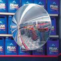 Miroirsconvexes circulaires, intérieur/extérieur, polycarbonate,36 po