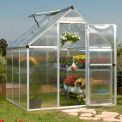 Nature™ 6' X 6' Greenhouse, Silver Frame, Twin-Wall