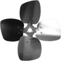"Four Wing Condenser Fan Blade, Interchangeable Hub, Aluminum Blade, CCW, 12"" Dia., 33° Pitch"