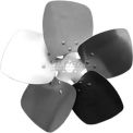 "Five Wing Condenser Fan Blade, Interchangeable Hub, Aluminum, CCW, 10"" Dia., 27° Pitch"