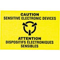 "Attention les appareils électroniques sensibles Shipping Label - 3 ""X 2"" - bilingue"
