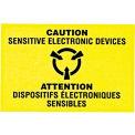 """Attention les appareils électroniques sensibles Shipping Label - 3 """"X 2"""" - bilingue"""