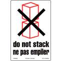 Étiquette de livraison bilingue « Ne pas empiler »,4 po x6 po