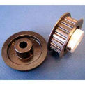 Plastock® Timing Belt Pulleys 32xl037df, Lexan, Double Flange, 1/5 Pitch, 32 Teeth