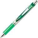 Pentel® EnerGel Liquid Retractable Gel Ink Pen, Metal Tip, Refillable, 0.7mm, Green Ink