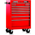 "Proto J542742-12RD J542742-12RD 540S Series 27""W X 18""D X 42""H 12 Drawer Red Roller Cabinet"