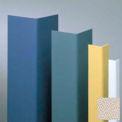"""Vinyl Surface Mounted Corner Guard, 135° Corner, 1-1/2"""" Wing, 4'H, Khaki Brown, Drilled"""