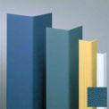 "Vinyl Surface Mounted Corner Guard, 90° Corner, 1-1/2"" Wings, 4'H, Alexis BL, Vinyl W/Tape"