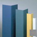 """Vinyle en saillie garde angle angle de 135°, 1-1/2"""" ailes, 4' haut, gris, W/ruban vinyle"""