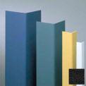 "Vinyle en saillie garde du coin, angle de 90°, ailes 3/4"", 8' H, noir, Vinyl"