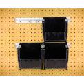 """Quantum HNS230 Hang & pile bacs 12"""" w/deux Rails, quatre bacs 5-1/2"""" W x 10-7/8 «D x 5» H, noir"""