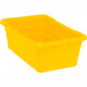 Cross Stack Nest Tote Tub TUB2516-8 -  25-1/8 x 16 x 8-1/2 Yellow - Pkg Qty 6