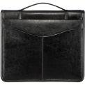 Journal en cuir véritable Bugatti JRN6091 w / o-ring Binder, noir