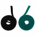 "Rip-Tie, 1/4"" x 75' WrapStrap, W-75-QRL-BK, Black, 1 Roll"