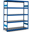 "5 Shelf High-Density Storage for Taper 50 - 72""Wx24""Dx87""H Avalanche Blue"