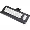 Safco® Products 2133BL Knob-Adjust Keyboard Platform, Black