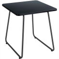 "Safco End Table - 20"" - Black with Black Frame - Anywhere Series"