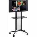 Safco® Impromptu® Flat Panel TV Cart, Black
