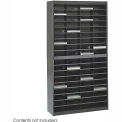 72 Compartment Steel Literature Organizer - Black