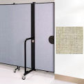 Screenflex 5'H Door - Mounted to End of Room Divider - Wheat