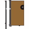 Screenflex 6'H Door - Mounted to End of Room Divider - Vinyl-Sandalwood