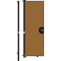Screenflex 8'H Door - Mounted to End of Room Divider - Walnut