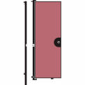 Screenflex 8'H Door - Mounted to End of Room Divider - Cranberry