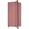 """3 Panel Display Tower, 5'9""""H, Fabric - Cranberry"""