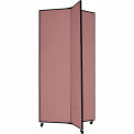 "3 Panel Display Tower, 6'5""H, Fabric - Cranberry"