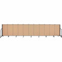 "Screenflex 11 Panel Portable Room Divider, 4'H x 20'5""L, Fabric Color: Desert"