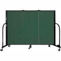 "Screenflex 3 Panel Portable Room Divider, 4'H x 5'9""L, Fabric Color: Mallard"