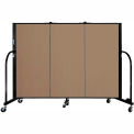 "Screenflex 3 Panel Portable Room Divider, 4'H x 5'9""L, Fabric Color: Beech"