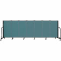"Screenflex 7 Panel Portable Room Divider, 4'H x 13'1""L Fabric Color: Lake"