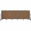 "Screenflex 7 Panel Portable Room Divider, 4'H x 13'1""L Fabric Color: Walnut"