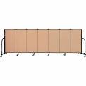 "Screenflex 7 Panel Portable Room Divider, 4'H x 13'1""L Fabric Color: Desert"