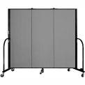 "Screenflex 3 Panel Portable Room Divider, 5'H x 5'9""L, Fabric Color: Stone"