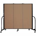 "Screenflex 3 Panel Portable Room Divider, 5'H x 5'9""L, Fabric Color: Beech"