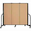 "Screenflex 3 Panel Portable Room Divider, 5'H x 5'9""L, Fabric Color: Sand"