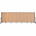 "Screenflex 9 Panel Portable Room Divider, 5'H x 16'9""L, Fabric Color: Desert"