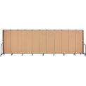 "Screenflex Portable Room Divider - 11 Panel - 6'H x 20'5""L -  Desert"